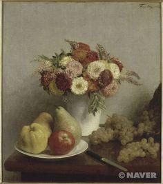 앙리 팡탱 라투르 '꽃과 과일' 1865년 오르세 미술관 소장
