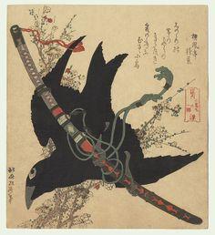 #hokusai #crow #katana