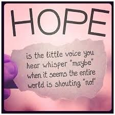Hope. What a beautiful thing. Hope makes you think everything is going to be ok. Hope is the voice that always says maybe or try try again.~layla❄