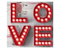 Placa love divided - 60x60cm R$219