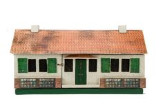 A Tri-ang Wooden Dolls' House Bungalow No 5 Q, rough-cast façade, cut-out windows with perspex, Green Front Doors, The Saleroom, Wooden Dolls, Doll Crafts, Dollhouse Furniture, Doll Houses, Lps, Bungalow, Facade