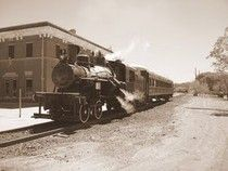 The old railroad yard in Globe, Arizona was once the scene of an attempted murder and suicide. 1909