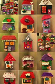 Art Wall Kids, Art For Kids, Crafts For Kids, Felt Diy, Felt Crafts, Felt Christmas, Christmas Crafts, Diy Arts And Crafts, Diy Crafts