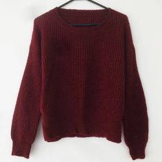 Maroon Mohair Knit Sweater Pre-Loved. Slouchy, warm sweater with full length sleeves. Hem has a slit design (photo3). Sweater has no tag but it can fit a Small to Medium. Brand is not Brandy Melville, listed for exposure. NO TRADE. NEGOTIATIONS ONLY THROUGH THE OFFER BUTTON. Comments asking to trade or negotiation through comments will be ignored Brandy Melville Sweaters Crew & Scoop Necks