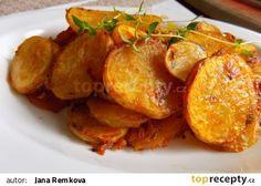 Křupavé brambory s tymiánem recept - TopRecepty.cz Czech Recipes, Ethnic Recipes, Sweet And Salty, Tandoori Chicken, Gnocchi, Side Dishes, Food And Drink, Veggies, Cooking Recipes