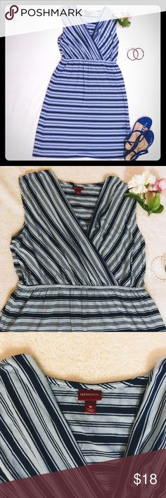 Dress Cute Merona dress. Perfect for spring or summer. Worn twice but in excellent condition. Dress has light blue and navy stripes.  Please feel free to ask any questions. Merona Dresses