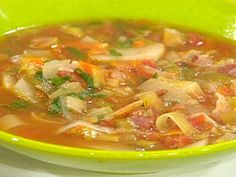 BLT and P (Bacon, Leek, Tomato and Potato) Soup Recipe : Rachael Ray : Food Network