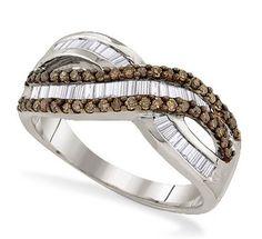 Chocolate Diamonds Twist Ring