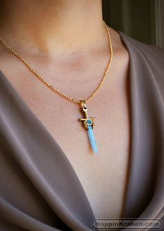 She-ra's Sword of Protection Resin Necklace Resin Necklace, Pendant Necklace, Estilo Geek, Rave Gear, Piercing, Gold Powder, She Ra Princess Of Power, Jewelry Design, Bracelets