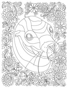 1083 Best Adult Colouring Animals Zentangles Images Adult