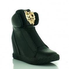 Czarne Sneakersy Versaee
