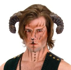 Realistic Satyr Goat Ram animal Horns Greek Mythology Costume