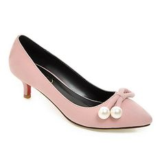 0b2a9272312 WeenFashion Women s Kitten Heels Frosted Solid Pull On Pointed Closed Toe  Pumps-Shoes
