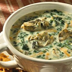 Oyster & spinach chowder.     This week for sure!!