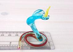 Cute Snake Glass Figurine Glass Art Mini by MiniGlassStudio