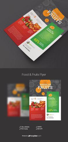 American Food Fruits & Health Flyer