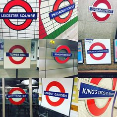 #underground #londonunderground #tube #sign #leicestersquare #picadillycircus #embankment #towerhill #knightsbridge #southkensington #westminster #coventgarden #kingscrossstpancras #london by kelseyholds