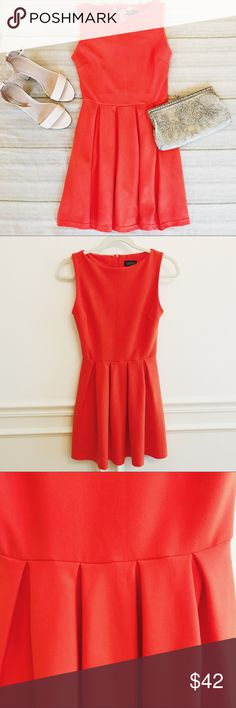 Topshop Bright Orange Pleated Dress Topshop orange dress with pleats. Like new condition. Very flattering! Size US Topshop Dresses Pleated Dresses, Topshop Dresses, Orange Dress, Fashion Tips, Fashion Design, Fashion Trends, Bright, Summer Dresses, Womens Fashion