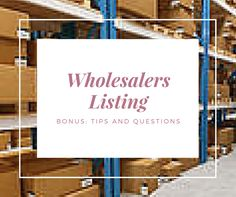 Do you want to start an online boutique? Are you looking for fashion wholesalers that carry clothes, jewelry, accessories, men and children's wear. Then this list is for your. ***44 of the best US based online boutique wholesalers and 17 independent designers that offer wholesale***. The listing gives you name, website, email, address, minimum purchase information, and what is needed to create an account. All of the listings have been individual researched and confirmed they are wholesale…