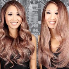 ♥Rose gold hair color