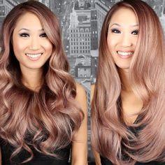 OH MY GOD, ROSE GOLD HAIR. I NEED THIS IN MY LIFE. NEEED, NEEEEED, NEEEEEED!!!!!