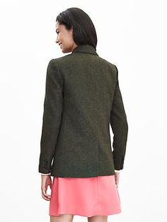 Speckled Olive Hacking Jacket | Banana Republic