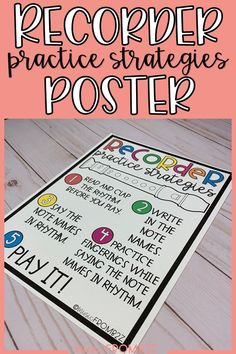 If your students are anything like mine, they need constant reminders of how to practice! I use this Recorder Practice Strategies Poster as an anchor chart in my classroom. Students can reference it when they are working on a recorder piece. Click through to see more! #music #elementary #recorder