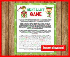 Right and Left Frosty the Snowman game with buffalo checks, White Elephant Game, Winter Baby or Bridal shower game, Red Plaid Lumberjack, - CHANTAL Christmas Gift Exchange Games, Fun Christmas Party Games, Christmas Games For Family, Christmas Crafts For Kids To Make, Christmas Activities, A Christmas Story, Winter Christmas, Holiday Fun, Xmas Games