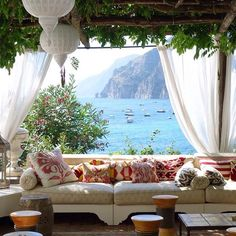 Beach Photos Villa TreVille Positano/Peter J. Lindberg/Travel and LeisureVilla TreVille Positano/Peter J. Lindberg/Travel and Leisure Oh The Places You'll Go, Places To Travel, Outdoor Rooms, Outdoor Seating, Outdoor Living, Outdoor Furniture, Outdoor Decor, Dream Vacations, Romantic Vacations