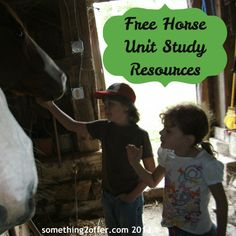Free Horse Unit Study Resources- tons of resources to create your own #unit study for homeschool, 4-H, Boy Scouts or Girl Scouts