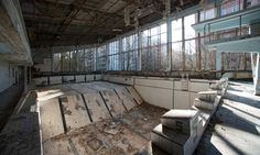 Inside the abandoned city of Pripyat, 30 years after Chernobyl – in pictures. The swimming pool in abandoned Pripyat.