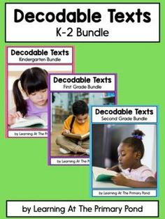 DISCOUNTED! This is a growing bundle of decodable readers for students working on Kindergarten, first grade, and second grade phonics patterns! A lesson plan for each text is also included. Learning To Write, Teaching Writing, Student Learning, Decoding Strategies, Comprehension Strategies, Phonemic Awareness Activities, Phonics Lessons, First Grade Reading, Reading Lessons