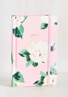 You'll have organization down pat when this floral planner is in your hands! Featuring plenty of room to jot down your appointments and to-dos, super-fun stickers, and colorful tabs that make each month easy to find, this pink hardcover will put you in total control of every plan!