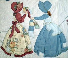 I ❤ applique . . . Suebonnet Free Pattern Designs | Create patchwork as desired using fabric from Bonnet Girls clothing ...