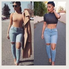 SNEAK PEEK ,LIGHT HIGH-WAIST JEANS Ultra high waisted, soft light blue jeans ,These should be worn with a cropped top and sandals for the perfect casual summer look! new without tag. Fiber 68% cotton, 16% rayon, 14% polyester, 2% spandex Sneak peek Jeans Skinny