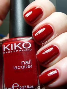 Nail of the Day: Kiko 240 Apple Red | Pointless Cafe