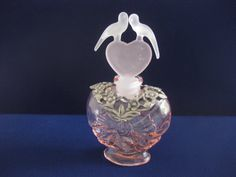 Pink Perfume Bottle w/ Frosted Heart Love by MyLittleSomethings, $32.00
