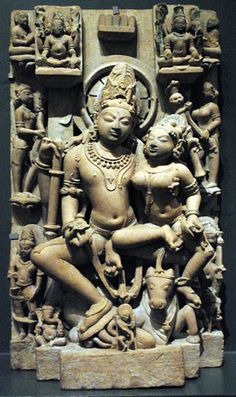 Sandstone Shiva family from India mid 10th century. lacma, Sep-2005 376