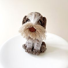 Made to Order GERMAN WIREHAIRED POINTER crochet amigurumi German Wirehaired Pointer Puppy, Pointer Puppies, Brown Bodies, Dog Items, All Toys, Toy Sale, Jelly Beans, Crochet Animals, Pointers