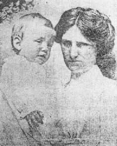 Nurse Alice Cleaver with First Class infant Trevor Allison -the only survivor of the wealthy Allison family from Ontario, Canada.