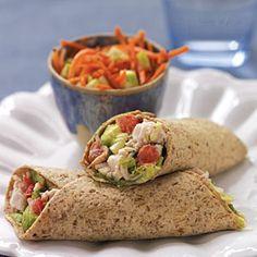 Turkey Cobb Salad Roll-Ups   MyRecipes.com #MyPlate #protein #vegetable #grain