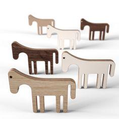 Wooden toy horses