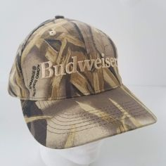 44a8ec7ec9e Budweiser Advantage Wetlands Camo Hat Ball Cap Snapback Vintage 90s Hunt  Hunting by TraSheeWomen on Etsy