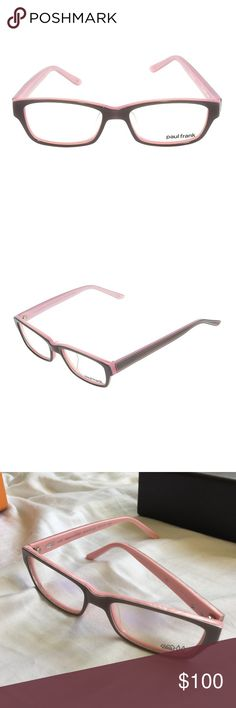 "PAUL FRANK optical frames Paul frank RX47 ""Tried and True"" gray and pink. Purchased at Paul frank sample sale, comes with hard case box shown. These do not have a prescription in them. Paul Frank Accessories"