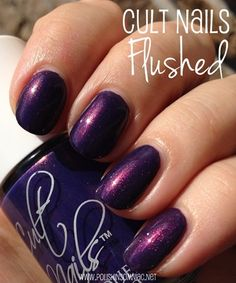 Cult Nails Flushed nail polish - click thru to see the rest of my favorite purple polishes from 2013!