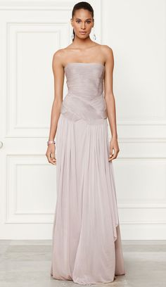 Ralph Lauren Fall 2014 Collection Francina Gown } LOLO