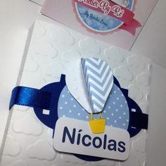 Caixa com chocolate - lembrança maternidade balão nas nuvens