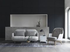 This sofa set is modern and delightfully minimalist