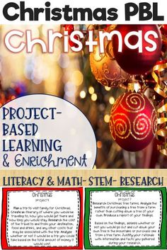 These Christmas themed project-based learning and enrichment projects put ownerhsip of learning into your student's hands and enrich your students through independent work study. Engage your classroom during your Christmas unit with these ten printables t