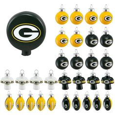 GREEN BAY PACKERS OFFICIAL LOGO BLOWN GLASS CHRISTMAS ORNAMENT 31-PACK. #packers #cheesehead